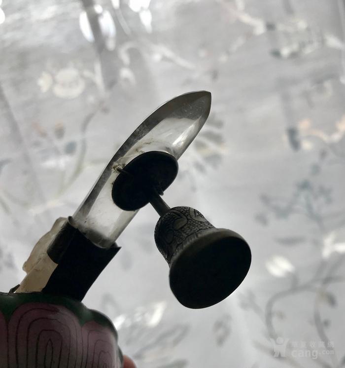 水晶龙钩,铜胎珐琅碗组合图11