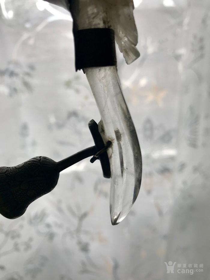 水晶龙钩,铜胎珐琅碗组合图12