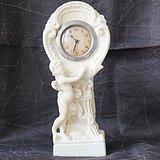 欧洲汉白玉浮雕机械钟