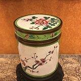 铜胎画珐琅 花鸟卉纹罐