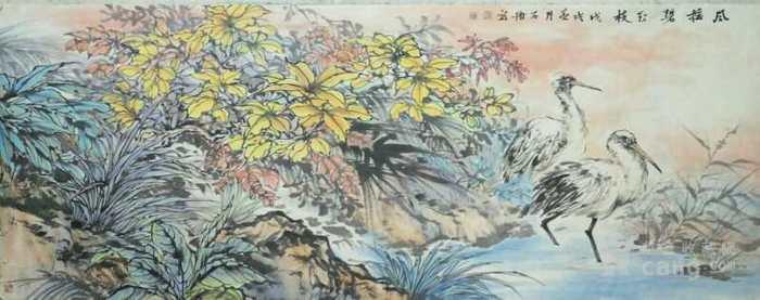 石册  183 小六尺花鸟图3