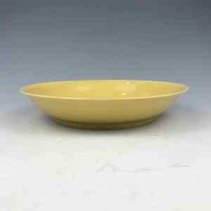 清代 乾隆黄釉盘