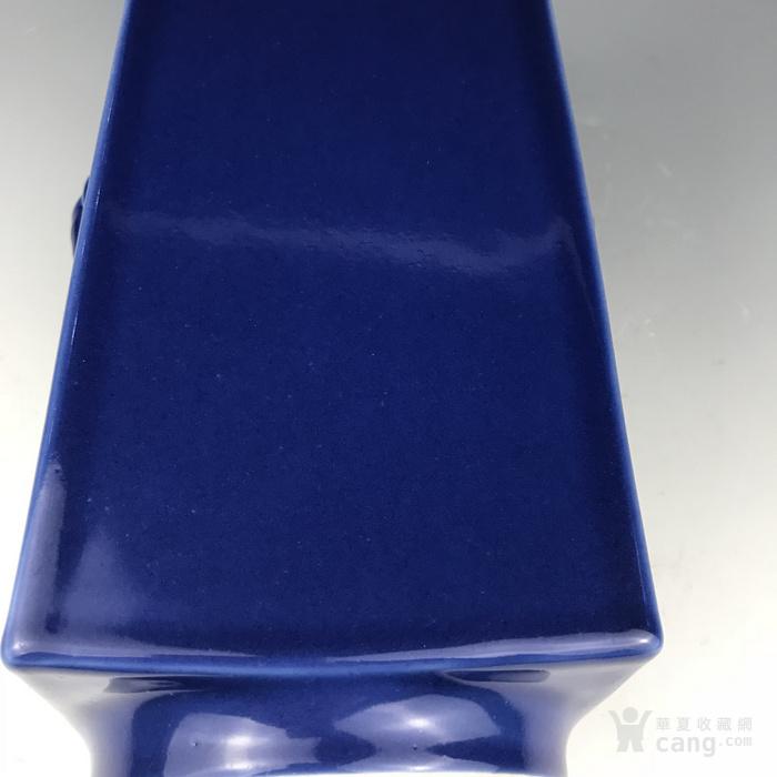 清代 霁蓝象耳方尊图6