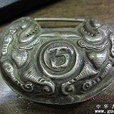 清朝一个银琐挂件古玉老玉瓷器铜器
