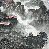 华山飞瀑图》