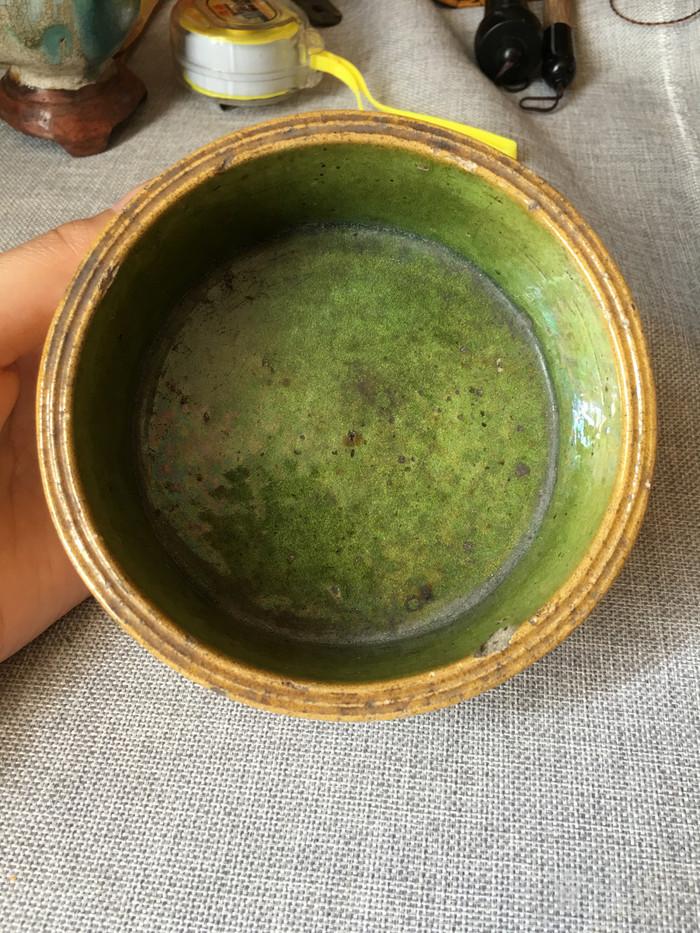 石湾青黄釉水洗图1