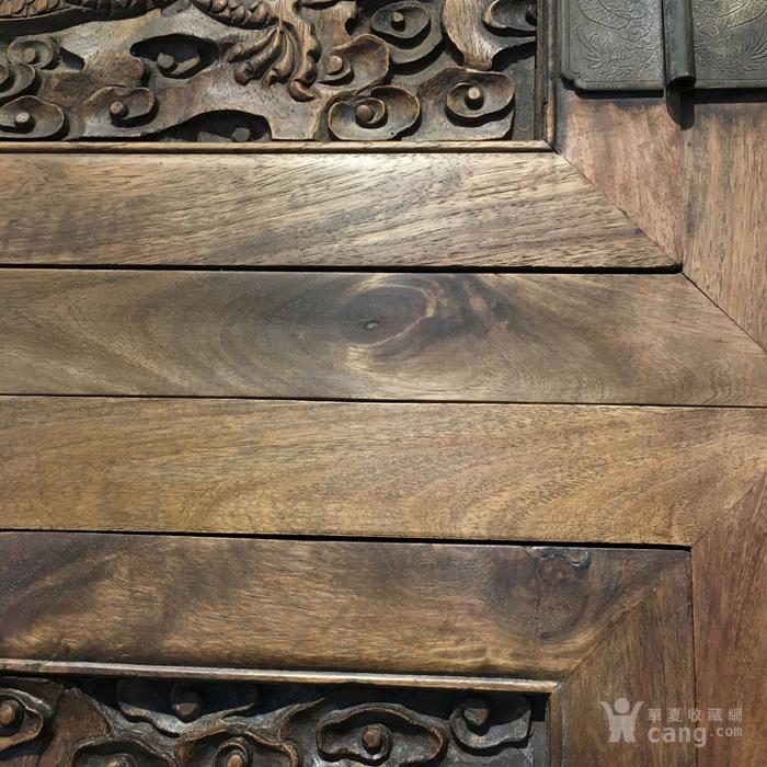 清代满工雕刻高浮雕龙纹大顶箱柜明清家具老黄花梨图11
