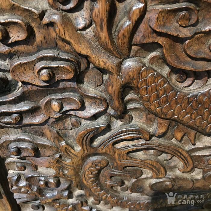 清代满工雕刻高浮雕龙纹大顶箱柜明清家具老黄花梨图10