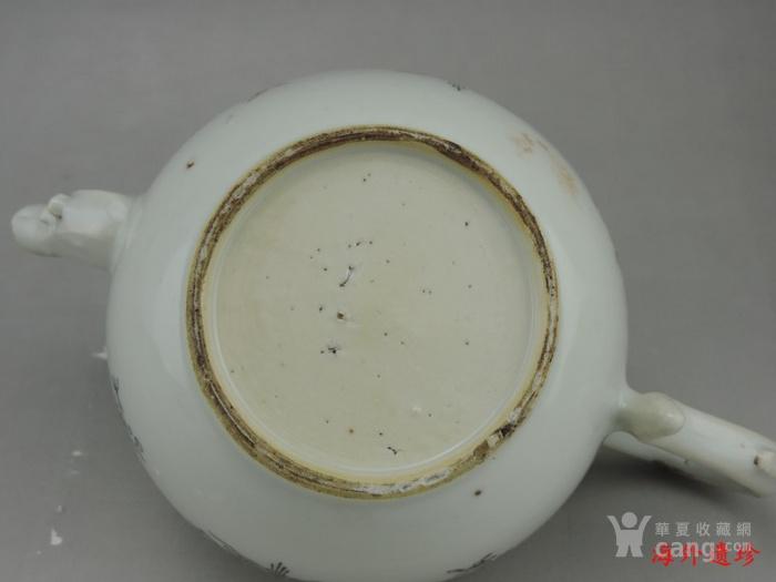 清代 雍正 乾隆 墨彩描金花卉纹 大号 茶壶图11