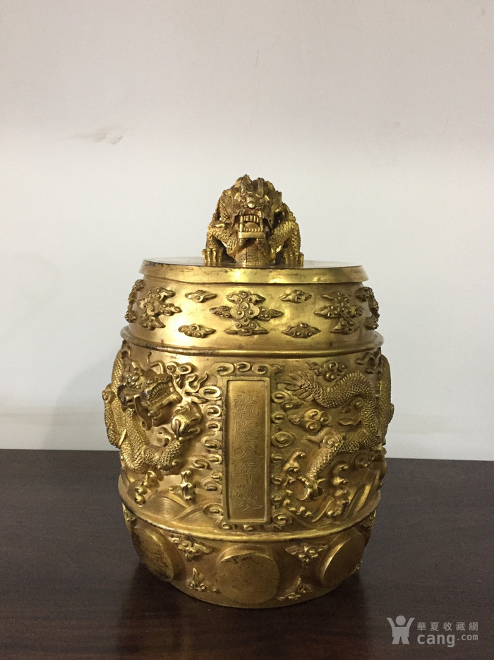 清乾隆八年铜鎏金编钟图1
