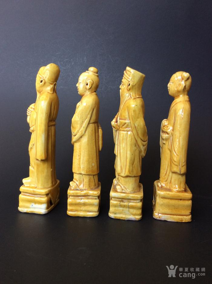 美国回流兴业坊 民国单色黄釉人物8件。CHINA款图4