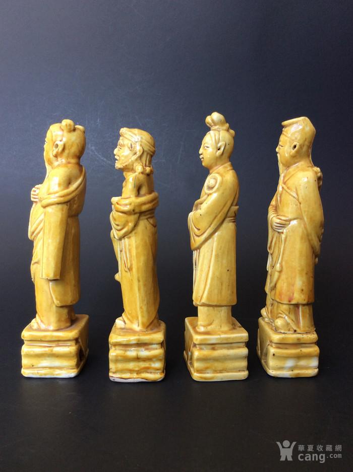 美国回流兴业坊 民国单色黄釉人物8件。CHINA款图9