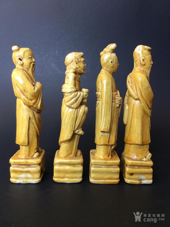 美国回流兴业坊 民国单色黄釉人物8件。CHINA款图11