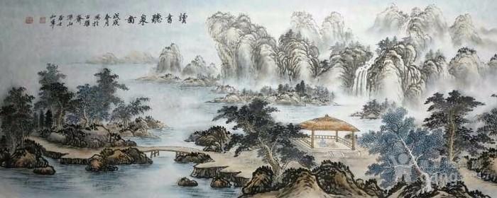 江苏美协戈加军  183 小六尺山水图1