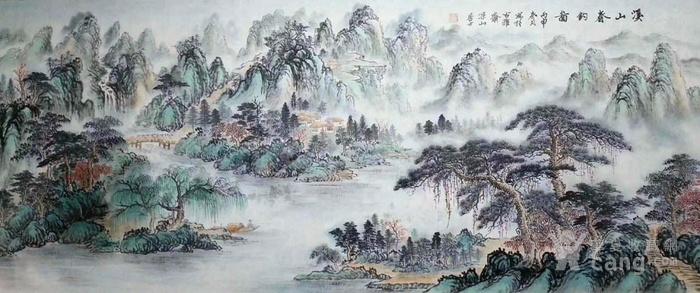江苏美协戈加军  183 小六尺山水图4