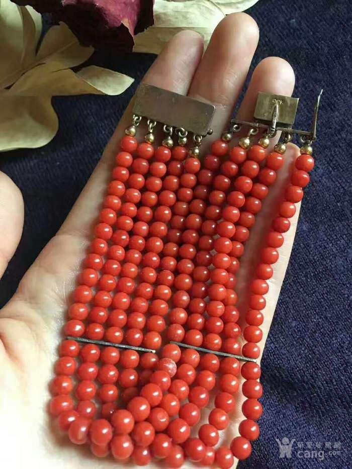 意大利沙丁红5排手链,800银标 这样的标记只有欧洲才有 图4