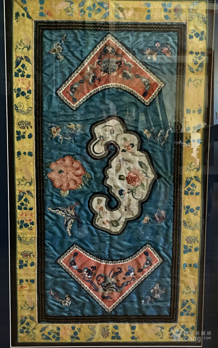 印第安河回流 清代老打籽绣,织綿巨大绣品图1