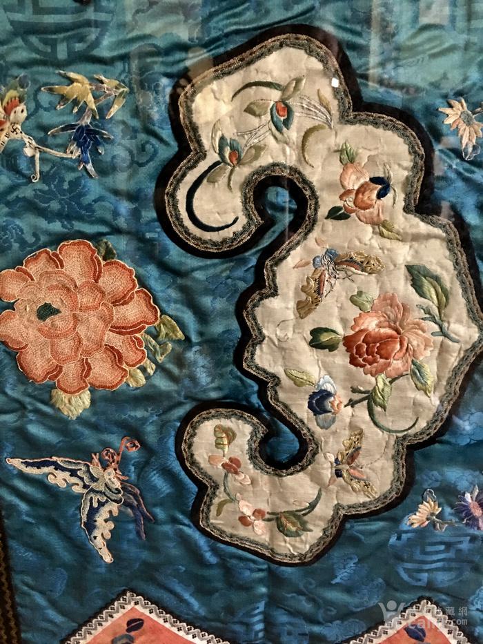 印第安河回流 清代老打籽绣,织綿巨大绣品图2
