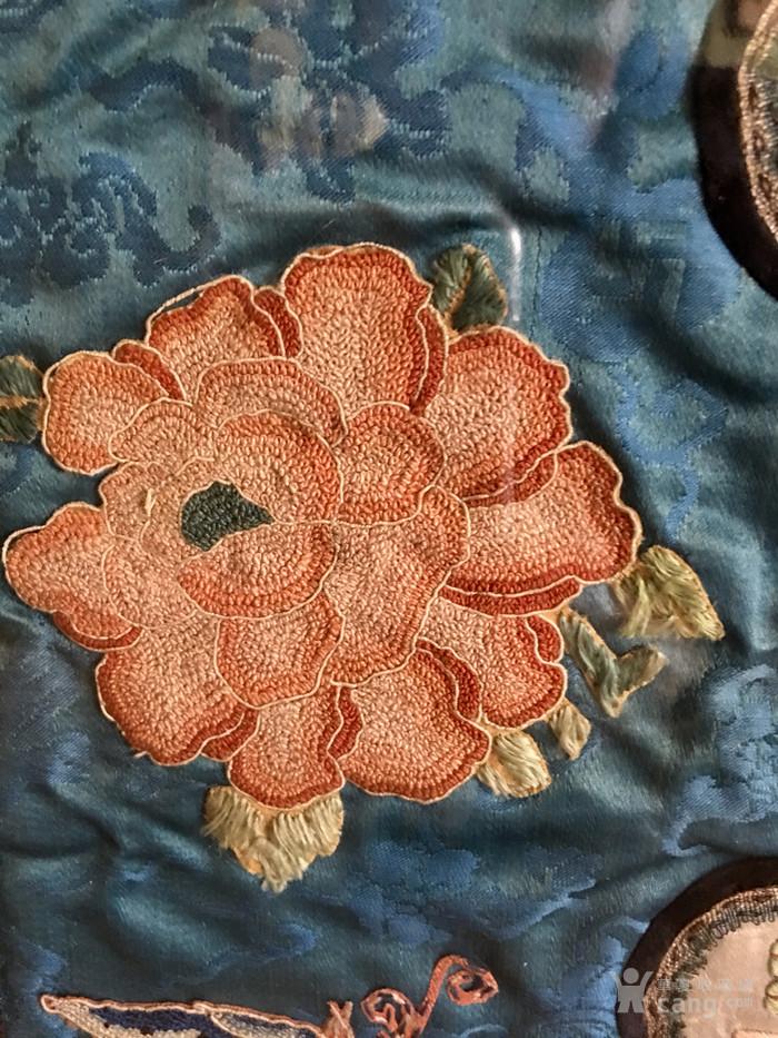 印第安河回流 清代老打籽绣,织綿巨大绣品图3