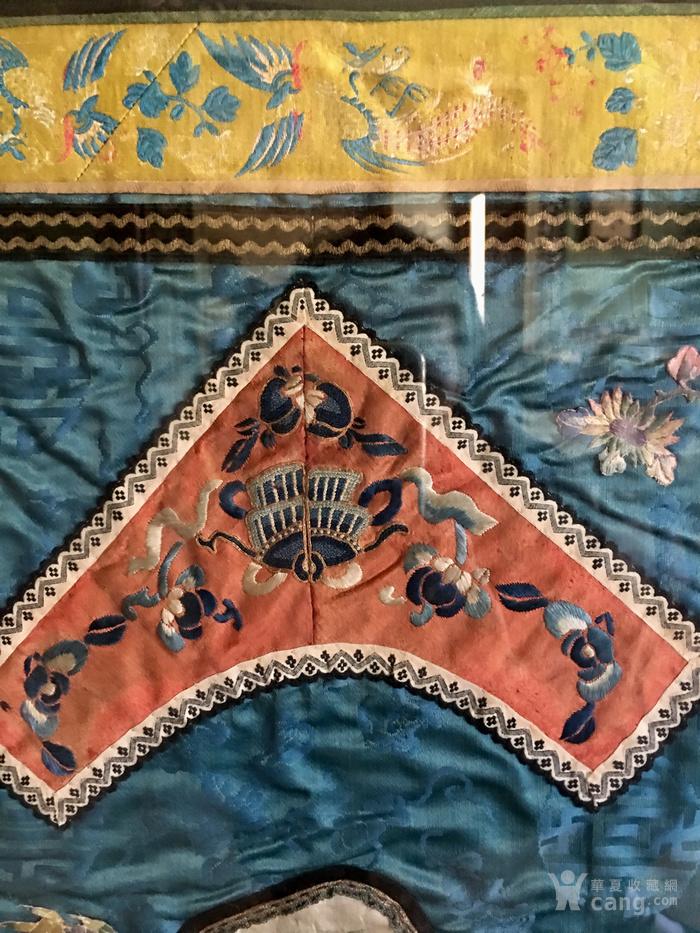 印第安河回流 清代老打籽绣,织綿巨大绣品图4
