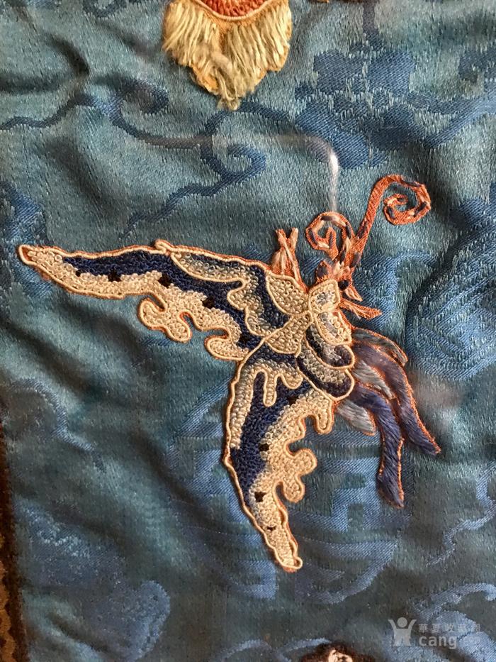 印第安河回流 清代老打籽绣,织綿巨大绣品图6