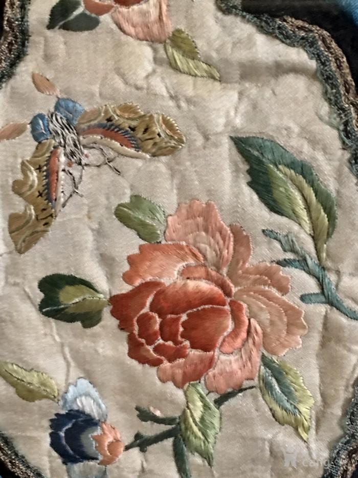 印第安河回流 清代老打籽绣,织綿巨大绣品图8