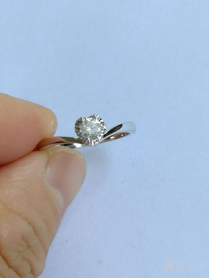 女款钻戒 18K金镶天然南非钻石心型戒指 22分SI1净度图1