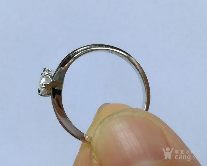 女款钻戒 18K金镶天然南非钻石心型戒指 22分SI1净度图4