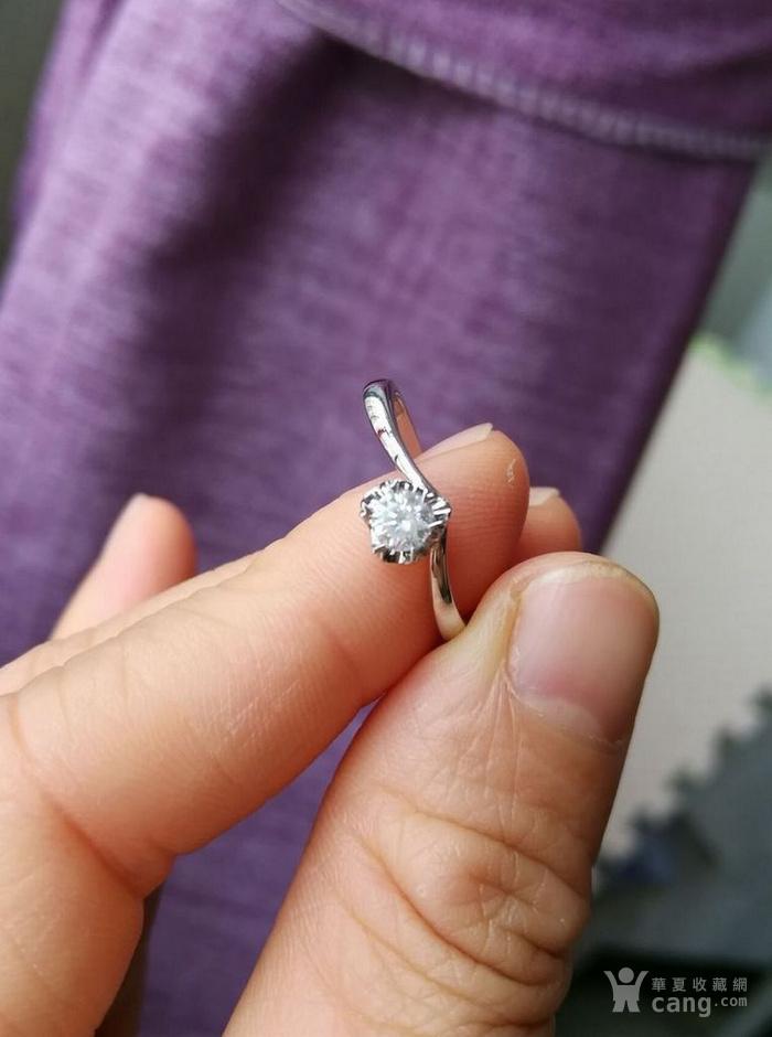 女款钻戒 18K金镶天然南非钻石心型戒指 22分SI1净度图2
