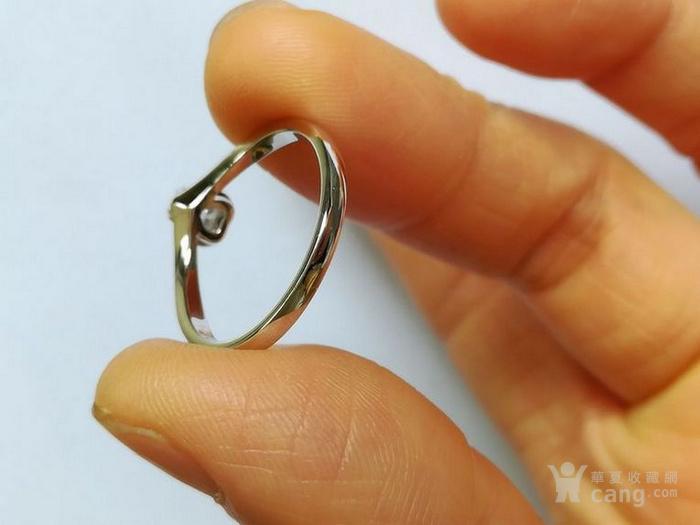 女款钻戒 18K金镶天然南非钻石心型戒指 22分SI1净度图3