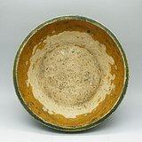 金绿釉三彩盆C2028