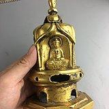 鎏金铜佛塔像