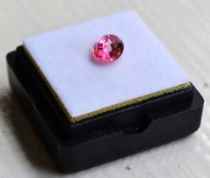 粉红色碧玺 莫桑比克纯天然粉红色碧玺1.05克拉图4