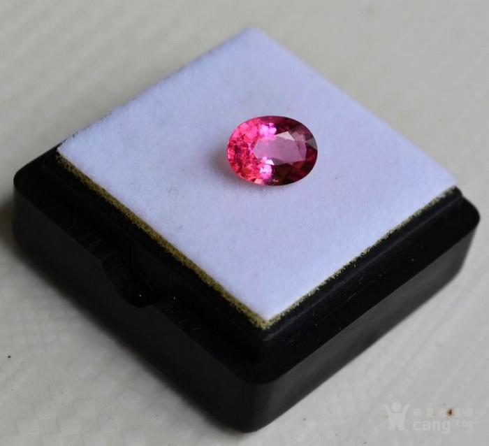 粉红色碧玺 莫桑比克纯天然粉红色碧玺1.05克拉图2