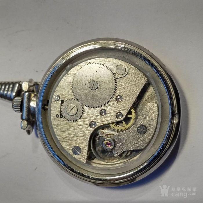 70年代古董防磁怀表 好品相 走时准确 原装表链图6