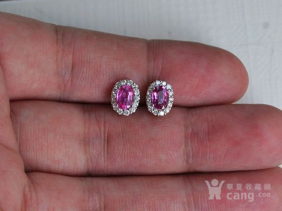 红宝石耳钉 18K金镶天然红宝石耳钉 戴安娜王妃同款图4