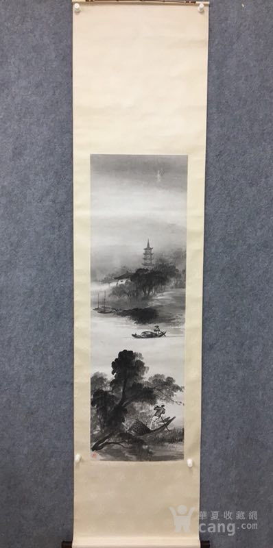 吴石仙精品山水立轴图1