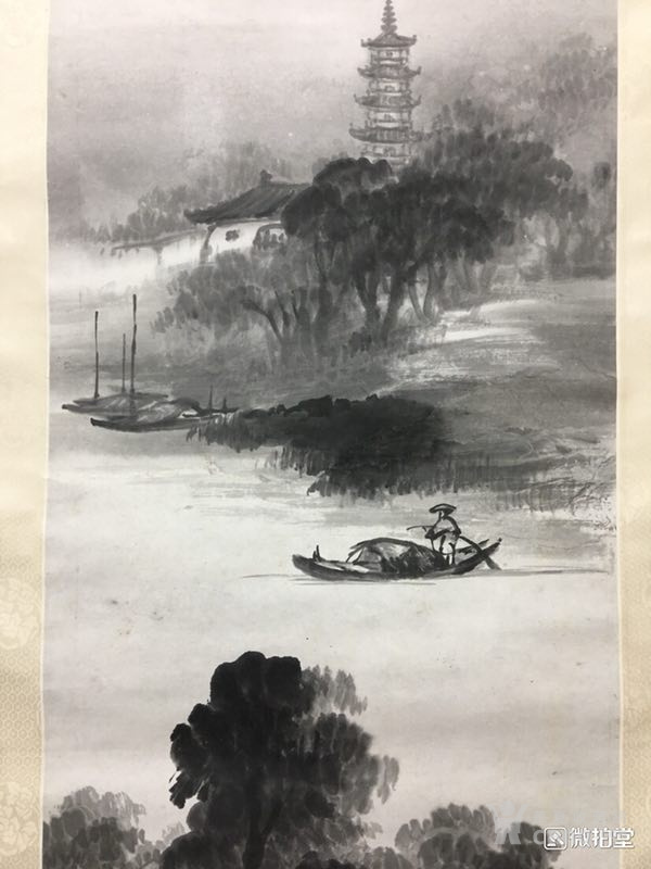 吴石仙精品山水立轴图2