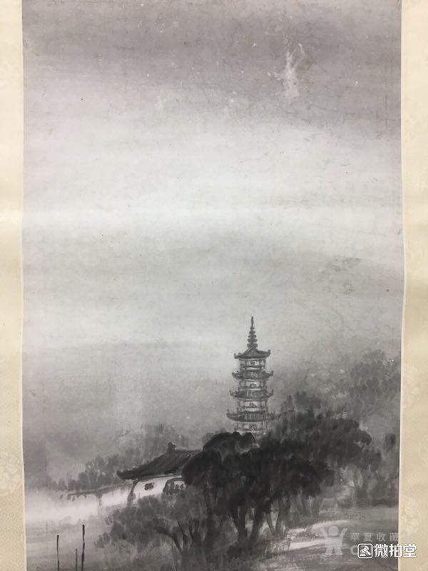 吴石仙精品山水立轴图3