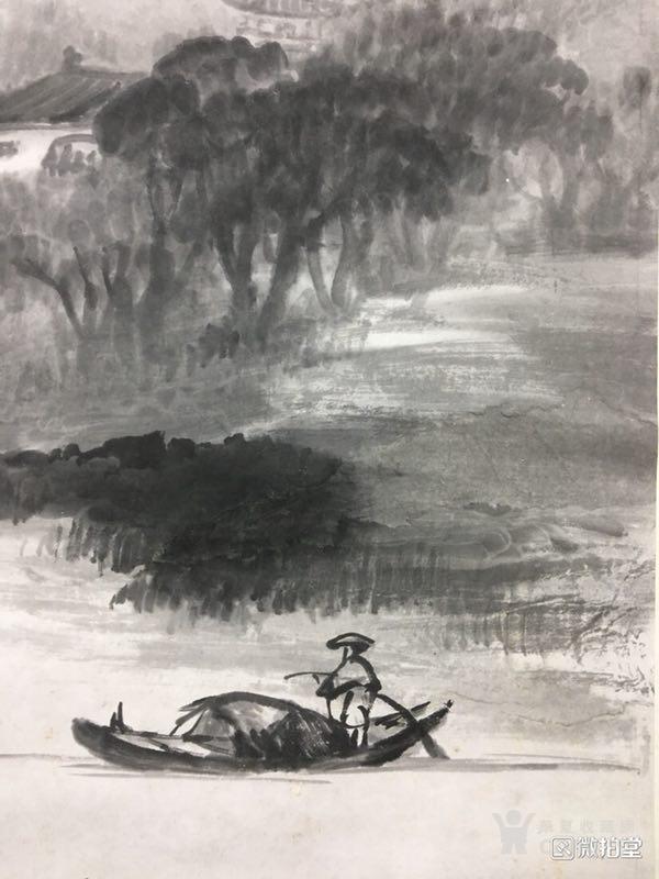 吴石仙精品山水立轴图6