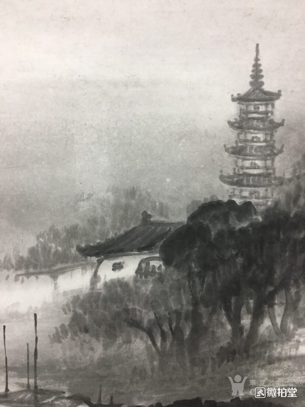 吴石仙精品山水立轴图7