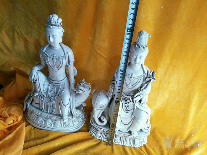 观音菩萨瓷像,保真包老图2