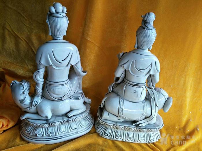 观音菩萨瓷像,保真包老图3