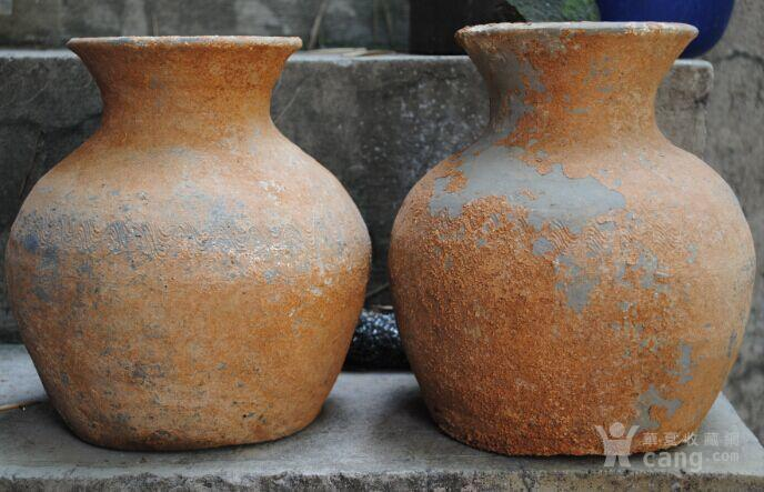 汉水波纹陶瓶图1
