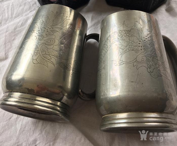 清末广州潮阳颜吉興点铜外销水杯一对图2