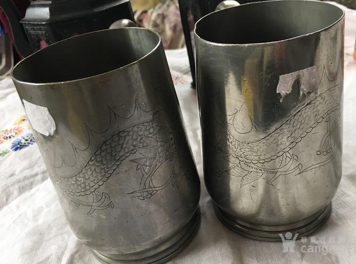 清末广州潮阳颜吉興点铜外销水杯一对图7