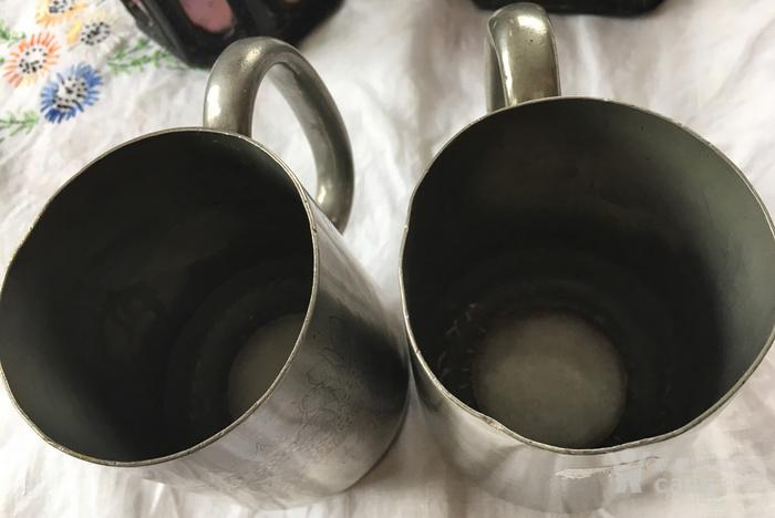 清末广州潮阳颜吉興点铜外销水杯一对图8