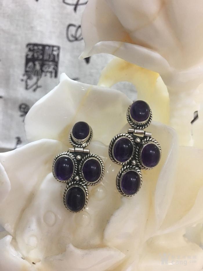 紫水晶耳环图1