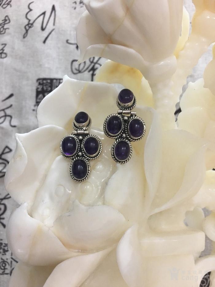 紫水晶耳环图2