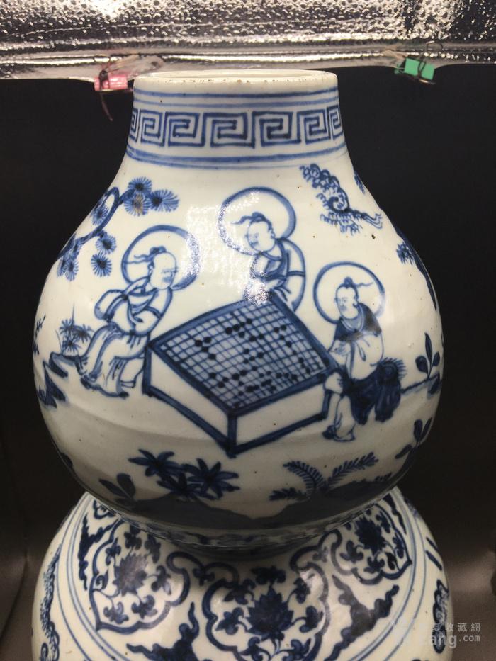 明青花人物故事琴棋书画超大件葫芦瓶见细图喜欢的询价图2